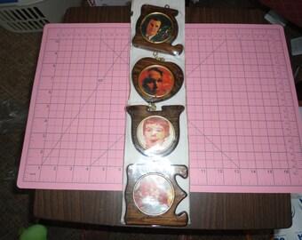 Vintage Hanging Frame, Love Frame, Carved Wood Frame, Wooden Frame, Multi Frame, Gift For Her, Mid Century Decor, Rustic, Frames on Chains