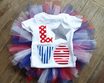 baby girl first Fourth of July outfit - baby girl first 4th of July outfit - toddler Fourth of July outfit - Fourth of July headband