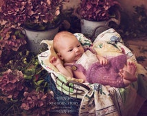 Real VINTAGE quilt layered piece flowers patchwork Newborn UK Photography Prop LouLouBoutique