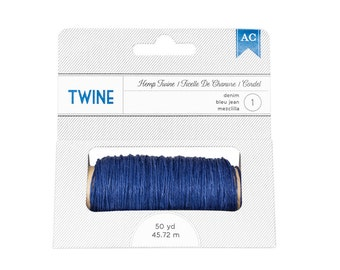 American Crafts 366580 Hemp Twine - Denim