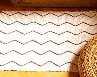 Cotton rug, crochet