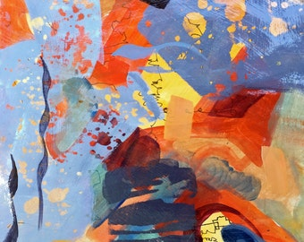 Original Painting Abstract Colorful Signed-ArtEqualsJoy