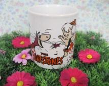 The Flintstones Mug - Fred Flintstone - Dino - Wilma - Hanna Barbera - 1970s Cartoons - Bedrock City - Pebbles Flintstone - Bam Bam