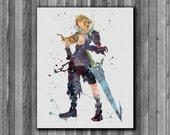 Tidus watercolor painting - Final Fantasy X Art Print, instant download, Watercolor Print, poster featured image