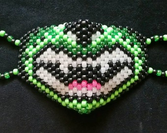 Custom Tiger Kandi Mask with Glow Teeth