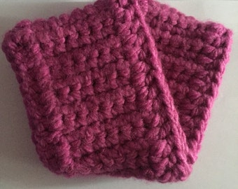 Chunky Pink Headband Hand Crocheted