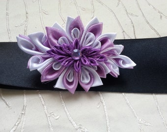 Kanzashi flower kanzashi, Belt with a flower kanzashi, hair clips, hair accessories, kanzashi hairpin, hair clip for girls