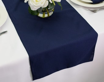Great Navy Blue Table Runner Polyester | Wedding Table Runners