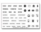 "Ms. Kimm Creates Plan FINANCES 4""X6 Photopolymer Clear Stamp Set - Journal, Planner, Financial, Budget"
