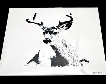 8x10 Deer Print