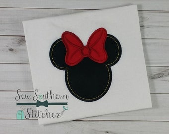 Mrs Mouse Head ~ Bean Stitch Inside ~ Instant Download