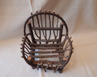 FREE SHIPPING:  Doll Chair, Twig Chair, Bent wood Chair, rustic Doll chair
