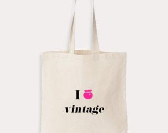 Tote bag I love vintage