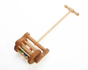 Wooden Lawnmower Push Toy - Toddler Gift