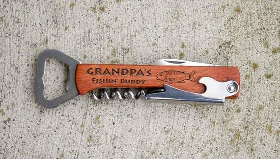 Items similar to fishing gift fishing decor grandpa for Hunting and fishing gifts