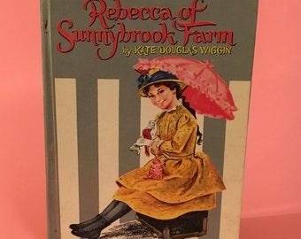 Vintage Rebecca of Sunnybrook Farm by Kate Douglas Wiggin 1960 Retro First Edition Grey and White Stripes