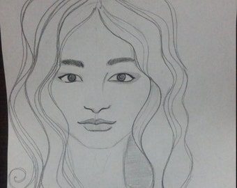 Drawing of a girl 2