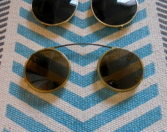 Vintage Sunglasses Clip on Frames/ 2 pairs!