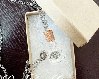 Harry Potter Potion Necklace | Veritaserum | Glass Vial Pendant Necklace | Gifts for her