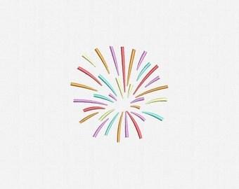 Fireworks Machine Embroidery Design - 4 Sizes