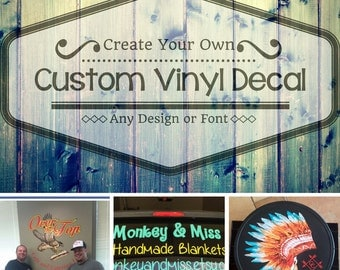 Custom Vinyl Decal Etsy - Make your own car decal