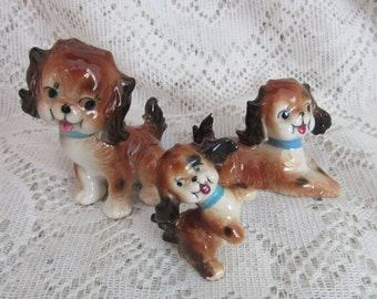 Spaniel Dog Family Figurines
