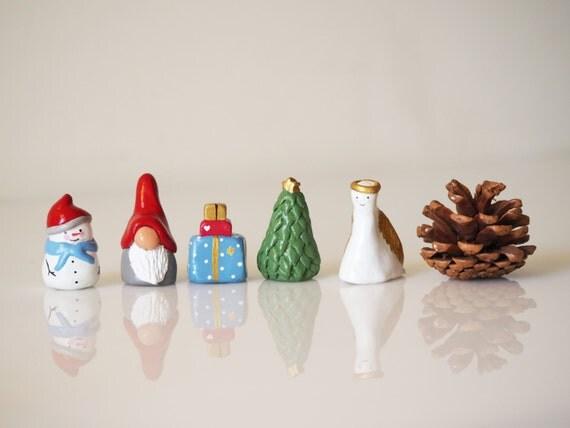 Collectible Christmas Ornaments christmas miniatures set 5 christmas ornaments collectible