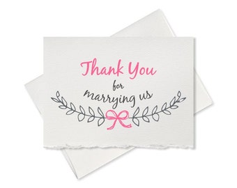 Wedding card for officiant gift thank you for marrying us wedding card ...