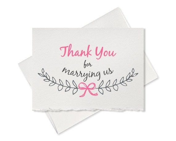 Wedding Officiant Gift Ideas: Wedding Card For Officiant Gift Thank You For Marrying Us