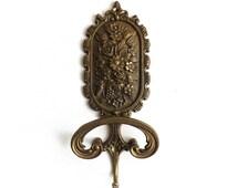 1 Solid Brass Ornate Wall hook / Coat hook / Victorian wall hook / Victorian Coat hook #5E8GFAK5F