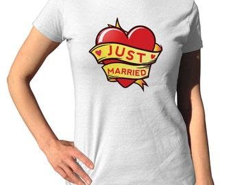 Just Married Shirt - Honeymoon - Bridal Shower Gift - Gift For Bride - Just Married Announcement - Just Married Clothing - Just Married Gift