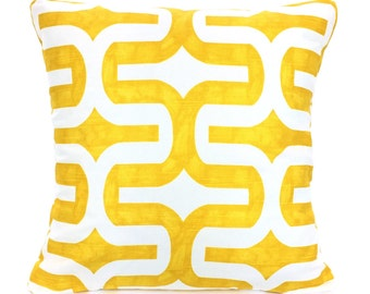 Yellow Pillow Covers, Decorative Throw Pillows, Cushions, Corn Yellow White Embrace, Couch Bed Pillows Euro Sham, One or More All Sizes