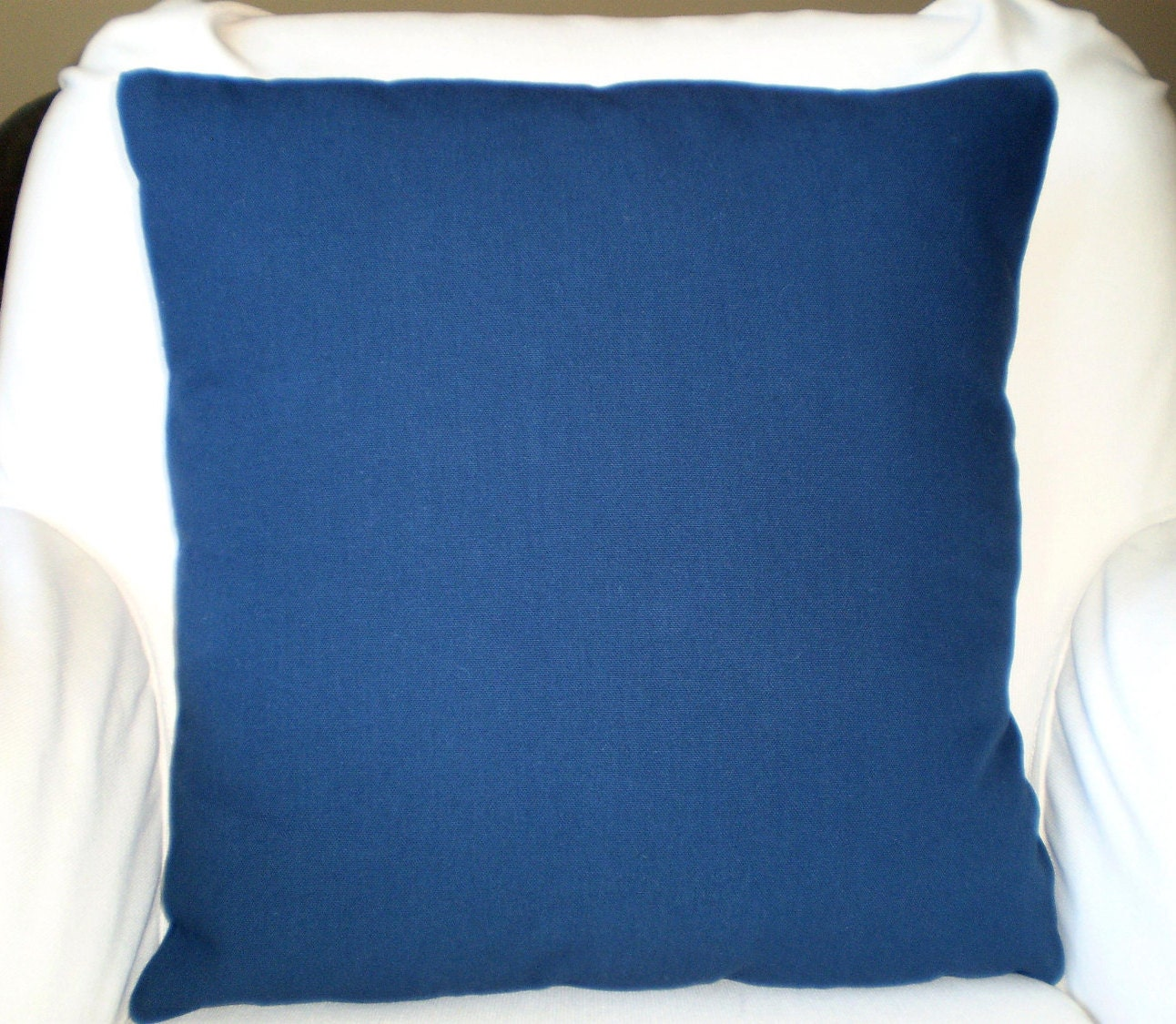 Navy Blue Decorative Pillow Covers : Solid Navy Blue Pillow Cover Decorative by PillowCushionCovers