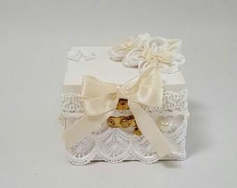 Ring Box , Wedding Ring Box , Lace Ring Box , Ring Bearer Box , Wooden Ring Box , Wood Ring Box , Ring Holder , Wedding ring Holder