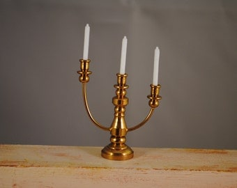 Vintage brass,candlestick,miniature,size perfect for dollhouse 1/12  1/6 decor
