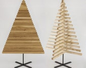 WOODEN CHRISTMAS TREE / 40 inch - 100 cm / oak, maple wood / X stand in 4 colors / minimal / modern / design / sustainable