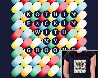 My Groove - colorful pattern graphic tee shirt - Men Women shirts
