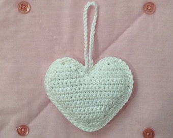 Crochet Lavender Heart