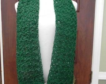 Handmade Crochet Women's / Junior's Gorgeous Green Scarf