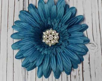 Large Flower Hair Clip, Add A Flower, Blue Flower Hair Clip, Hair Accessory, Photo Shoot Prop, Special Occasion