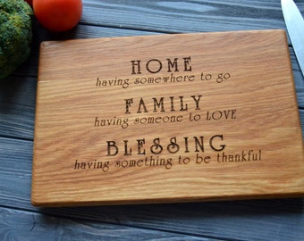 House Warming Custom Gift Home Family Blessing Cutting Board Chopping Decor Housewarming First New Home Gift for Dad Mom Wife Parents