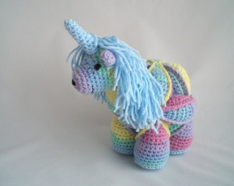 Crochet Unicorn Soft Toy / Unicorn Puzzle Ball / Hand Made Amamani / Amigurumi soft toy / Crochet Plush Toy / Educational Soft Toy