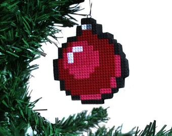 Pixel Ornament Christmas Ornament Nerdy Retro