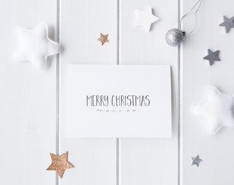 Silver Foil 'Merry Christmas' Greeting Card