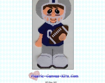 Football Player Wall Hanging-Plastic Canvas Pattern-PDF Download