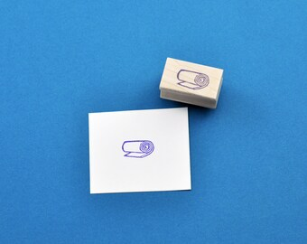 Yoga Mat Stamp, Hand Carved Rubber Stamp