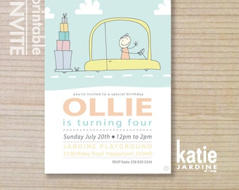 boys invitation - kids invitation  - printable invitation - presents - gifts