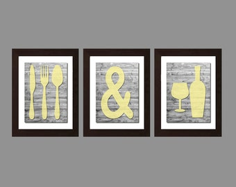 Shabby Chic Kitchen Wall Art Eat And Drink Kitchen Decor Kitchen Wall Art