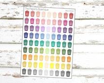 SKU-0020// Trash Can Cleaning Stickers for Erin Condren Planner/Kikki K Planner