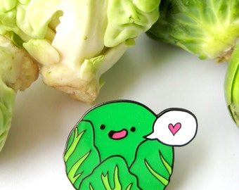 Christmas Brussels Sprout LOVER Enamel Pin